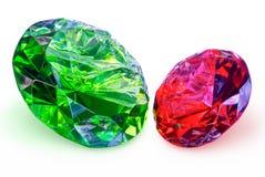 Precious stones,jewelry  on a white background Royalty Free Stock Photo