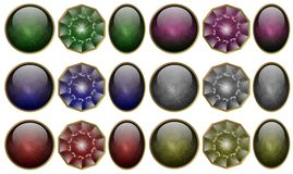 Precious stones set Stock Photo