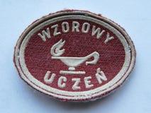 Universal school badge...exemplary student. stock images