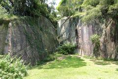 Precipice at the gulangyu islet Royalty Free Stock Photo