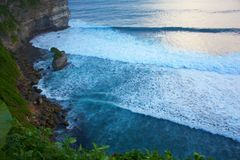Precipice near Uluwatu Temple Royalty Free Stock Images