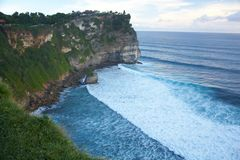Precipice near Uluwatu Temple in Bali. Indonesia Stock Image