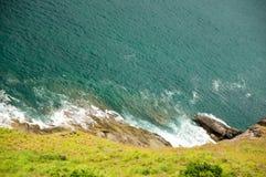 Precipice from a rock Stock Image