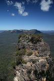 Precipice. View from on the Three Sisters rock formation in the Blue Mountains, Australia Stock Images