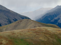 Precipitação ao longo da partilha continental, escala de Sawatch, Colorado fotografia de stock