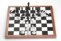 Precipitação das figuras brancas da xadrez Imagens de Stock