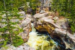 Precipitação do rio da montanha Fotos de Stock