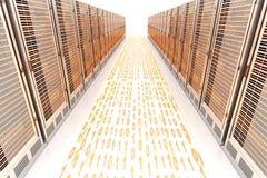 Precipitação dos dados Imagens de Stock