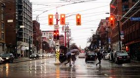 Precipitación de la calle de la reina Foto de archivo