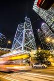 Precipitación de la noche de Hong Kong Imagen de archivo libre de regalías