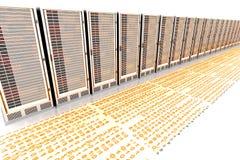 Precipitación de los datos Imagen de archivo libre de regalías
