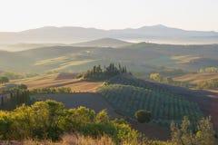 Precipitación de septiembre en Toscana Italia Imagenes de archivo