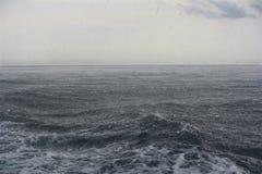 Precipitación en el mar Imágenes de archivo libres de regalías