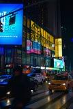 Precipitación en Times Square fotografía de archivo