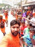 Precipitación india del templo foto de archivo libre de regalías