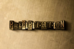 PRECIPITATION - close-up of grungy vintage typeset word on metal backdrop Stock Photos
