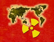 Precipitazione radioattiva di radiazione Immagini Stock