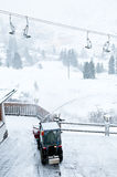 Precipitazioni nevose in alpi austriache Immagini Stock Libere da Diritti