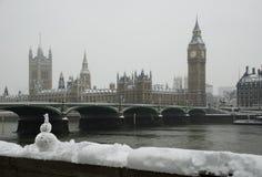 Precipitazioni nevose di inverno del grande Ben Immagine Stock Libera da Diritti