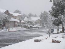 Precipitazioni nevose di inverno, Las Vegas, nanovolt 2010 Fotografia Stock Libera da Diritti