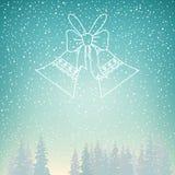 Precipitazioni nevose e festa Jingle Bells Immagine Stock Libera da Diritti
