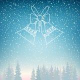 Precipitazioni nevose e festa Jingle Bells Fotografia Stock Libera da Diritti
