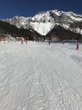 Precipitazioni nevose, ghiacciaio Austria, Ramsau di Dachstein immagine stock