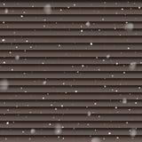 Precipitazioni nevose isolate sul fondo marrone dei pannelli Modello di caduta della neve di vettore fotografia stock libera da diritti