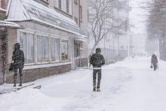 Precipitazioni nevose pesanti Fotografia Stock