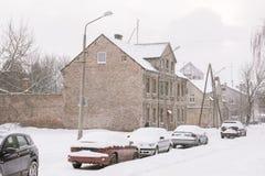 Precipitazioni nevose pesanti Fotografia Stock Libera da Diritti