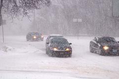 Precipitazioni nevose pesanti dell'8 marzo 2008 a Toronto fotografie stock libere da diritti