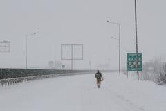 Precipitazioni nevose su ad alta velocità Fotografia Stock Libera da Diritti