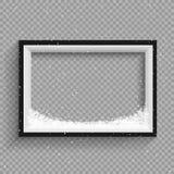 Precipitazioni nevose sulla struttura in bianco e nero illustrazione di stock