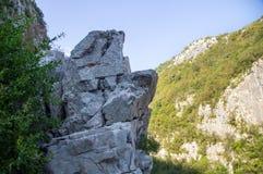 Precipitous cliffs in Serbia Stock Image
