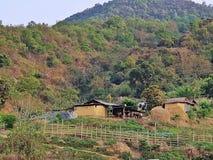 Precis en liten by i imphal manipur Indien Royaltyfria Foton