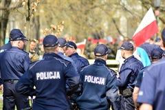 Precis för ceremonin av att avtäcka monumentet offren av en flygplanskrasch nära Smolensk Royaltyfri Foto