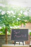 Precis gift garnering för att gifta sig Arkivbilder