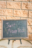 Precis gift garnering för att gifta sig Arkivbild