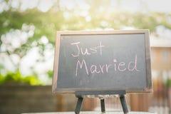 Precis gift garnering för att gifta sig Fotografering för Bildbyråer