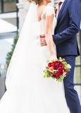Precis gift par utomhus Royaltyfria Bilder