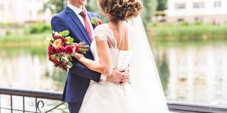 Precis gift par utomhus Royaltyfria Foton