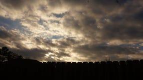 Precis molnen Royaltyfri Fotografi