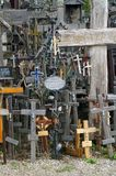 The Hill of Crosses is a site of pilgrimage about 12 km north of the city of Šiauliai, in northern Lithuania stock photography