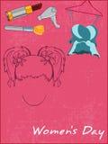 precisera sina anklagelser mot den härliga flickaförberedelsen stock illustrationer