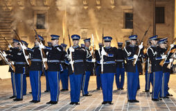 Precision Drill Team Royalty Free Stock Photos