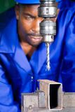 Precision drilling machine Stock Image