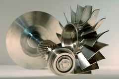Precision engineered turbine Royalty Free Stock Image