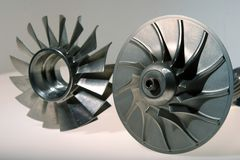 Precision engineered turbine Royalty Free Stock Photography