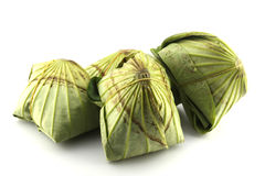 Precision herbal rice wrapped in lotus leaf Stock Photography
