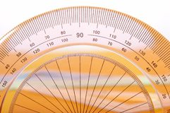 Precision protractor ruler Royalty Free Stock Image